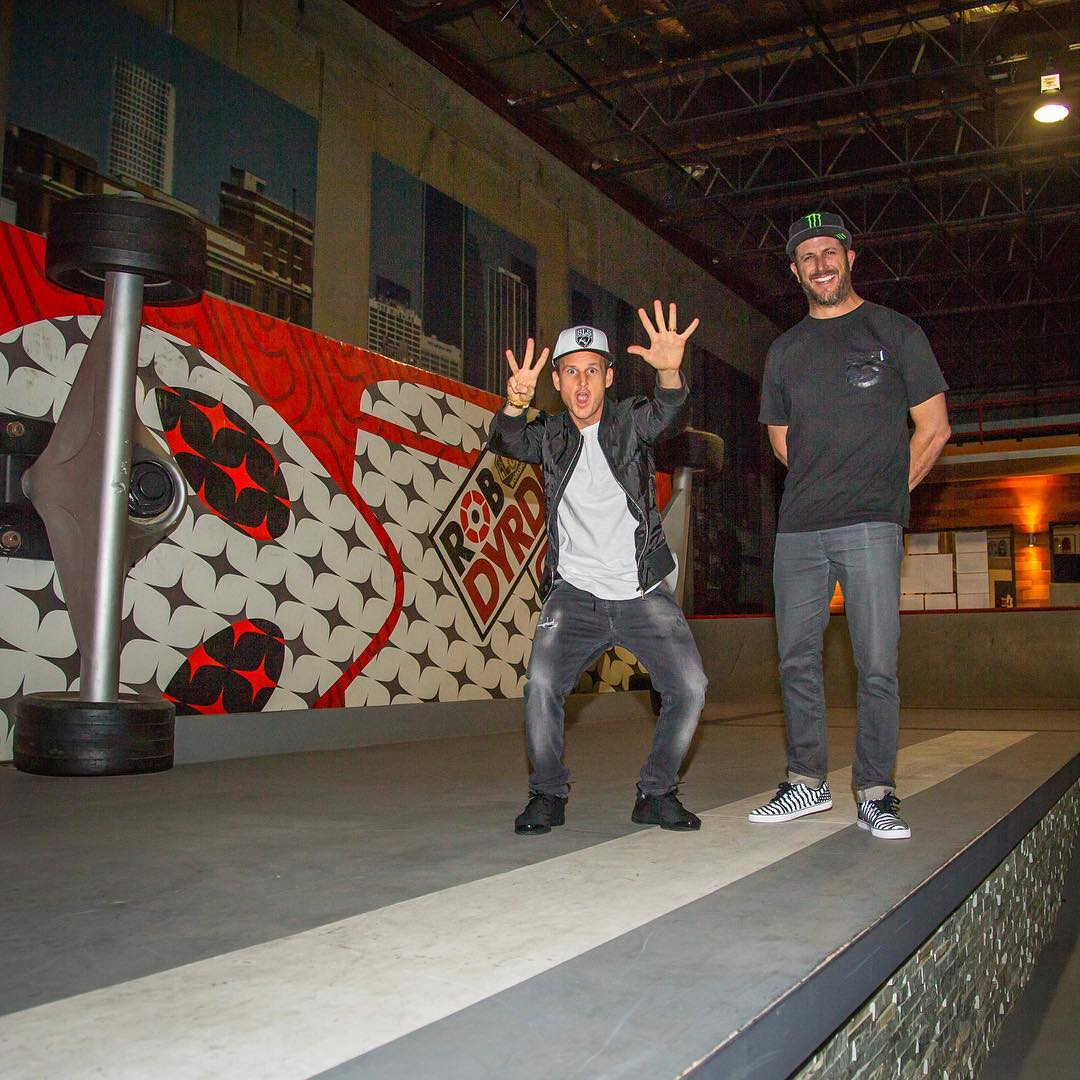 One of my pre-Gymkhana video release rituals is to give one of my best friends @robdyrdek a sneak peak before we make the video live, so I swung by the Fantasy Factory to give him a private preview. His reactions coming soon... #GymkhanaEIGHT