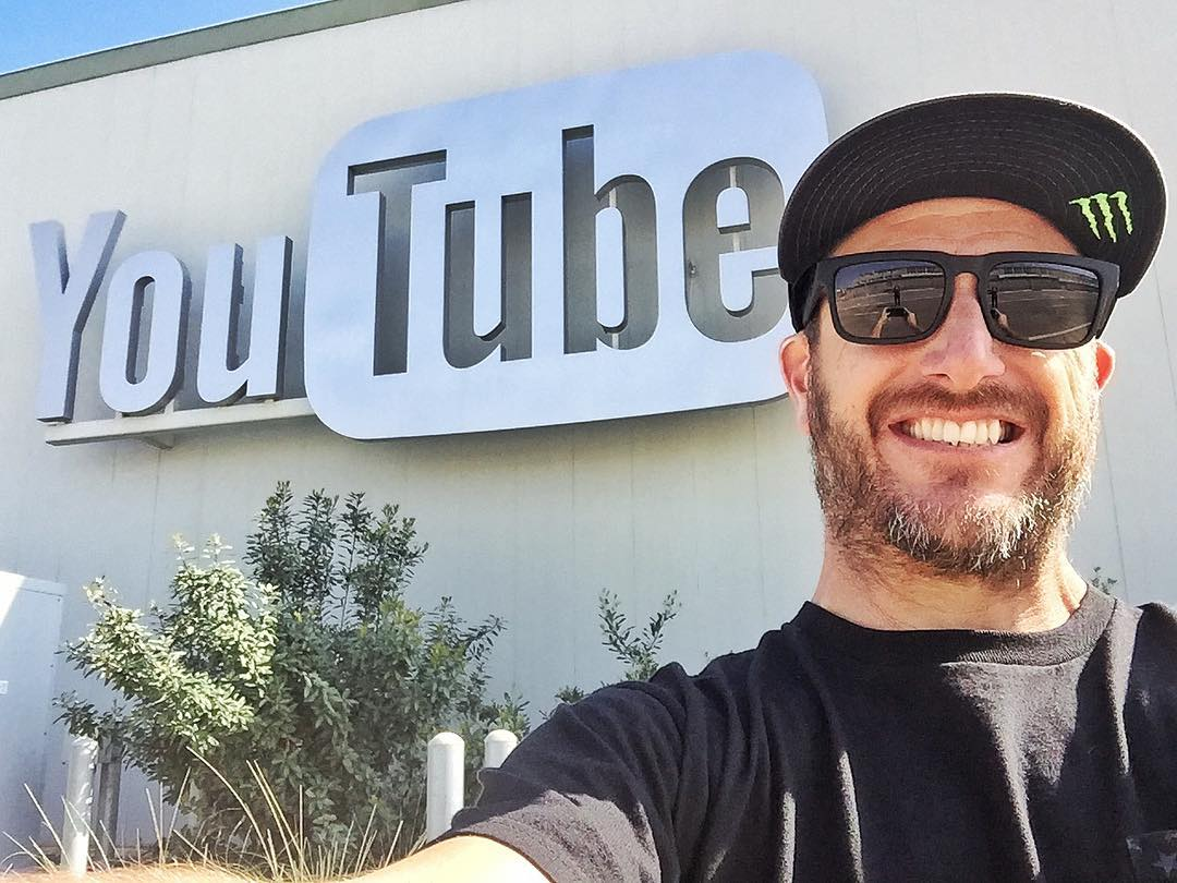 #SelfieMonday at this little place called @YouTube. We're having a VIP video launch party here tonight for #GymkhanaEIGHT. More coming soon! #launchingyoutubevideosatyoutube #SoMeta