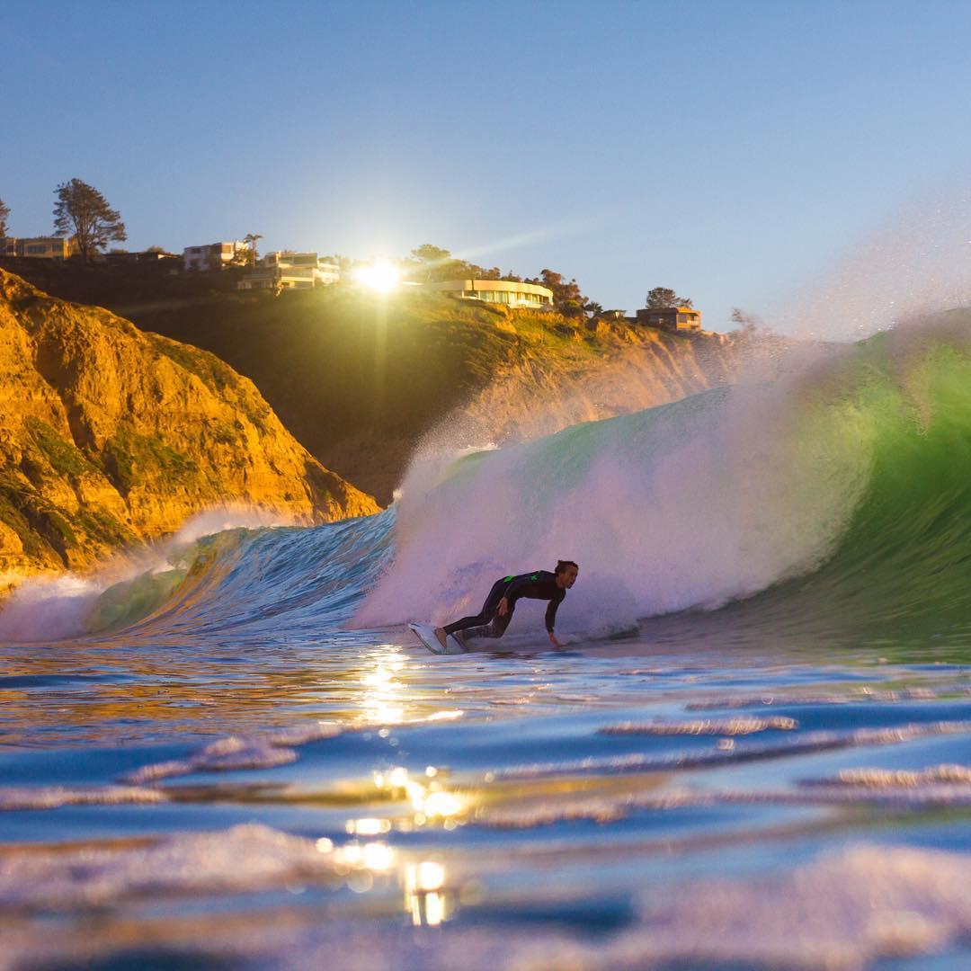 @blakeferraro_ sunbeam bottom turn at Black's beach.