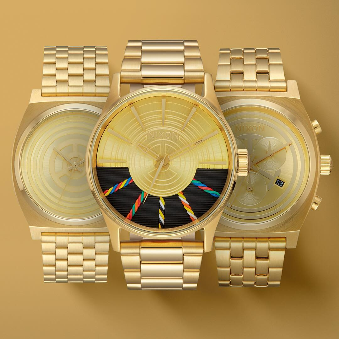 This is madness: The latest from the @starwars | #Nixon #LightSide Collection, welcome the #C3PO #TimeTeller, #Sentry and #TimeTellerChrono. #StarWars #Droid #TheForceAwakens #Nixon