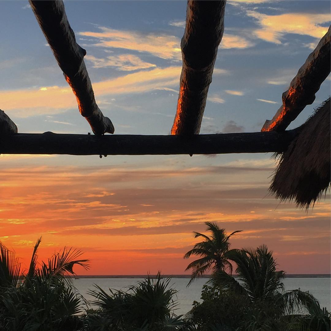 Perfect sunset watching perch #sunset #sunsetchaser #Tulum #Mexico #wanderlust #adventureoften