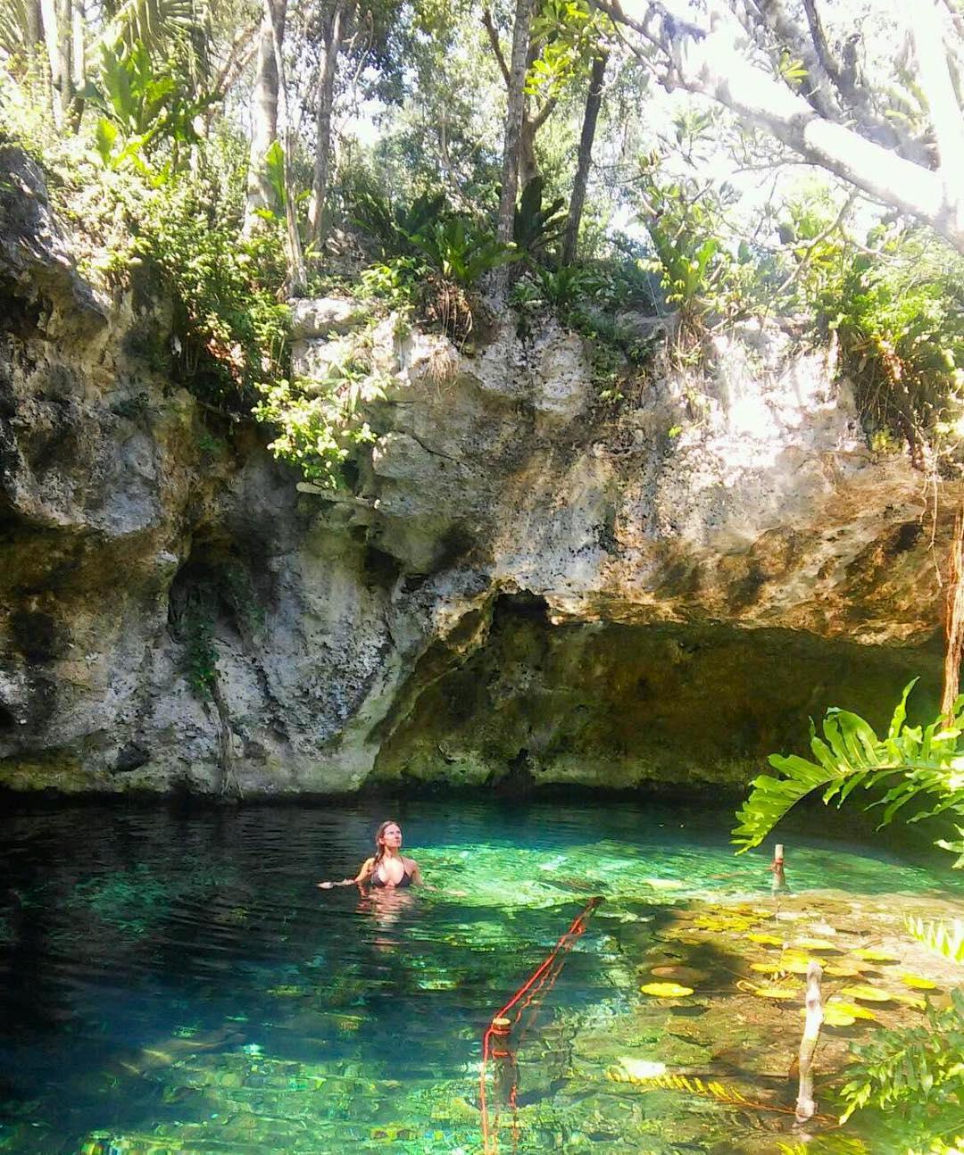 Adventured away from the beach today #cenote #Tulum #Mexico #wanderlust #adventureoften
