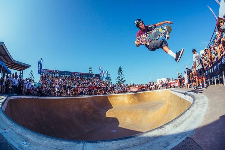 @austin_poynter kickin it down at the #newcastle Australia contest .