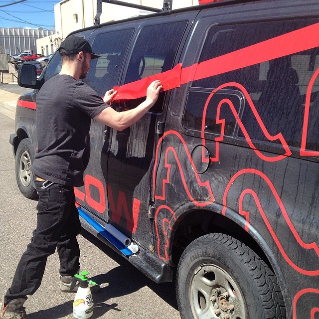 The Flylow #ATeam van needed a little love today. #warranty #bigrig #vanproblems