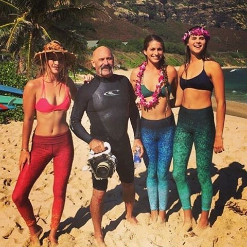 "#repost @jimrussi ""Work work work ... Lucky Uncle @jimrussi with 3 of his favorite Surf Models @_sophhhhhh_  @emi_erickson @meggels_  for up and coming @_okiino_  yoga/surf/active wear!"" ™@jimrussi"