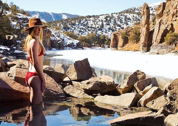 #miolagirls… brave the elements || #winteristhenewsummer with @meredithdrangin in our X-Back Top & Supercheeky Bottoms ||