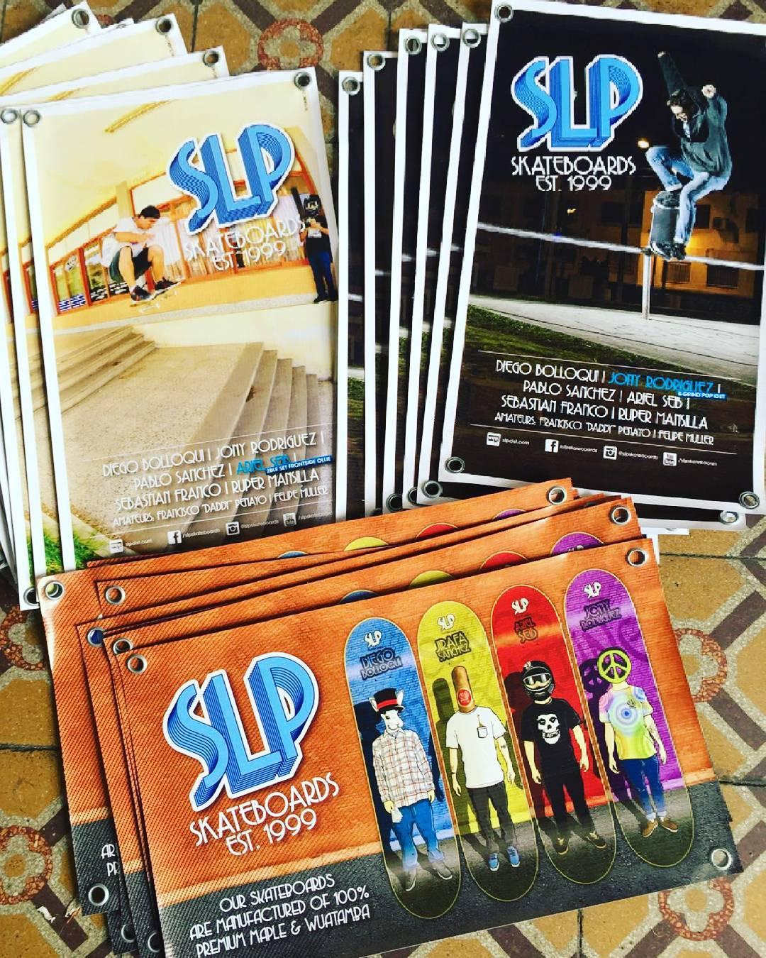 Nuevos banners ! Apoyamos con presencia de marca a nuestros riders y tu skateshop ó action sportshop. → Desde 1999 en las calles...!! #slp #slpskateboards #banners #slpteam #nuevos #skateshops #skateboarding #actionsportshops