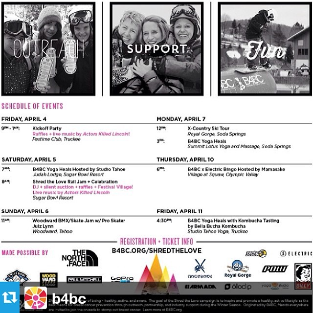 Who wants to #ShredTheLove this weekend at @SugarbowlResort? Check out www.stayclassy.org/sugarbowl2014 for details on the @b4bc events in #Tahoe. #sisterhoodofshred #snowboarding #regram