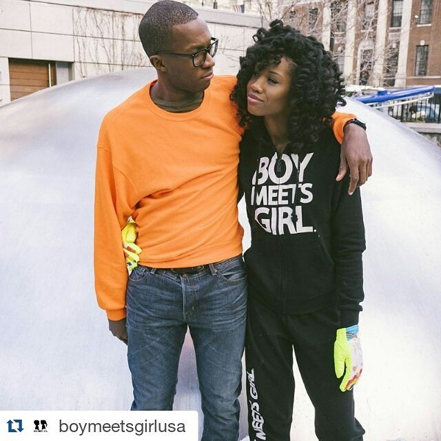 Based on @helen_lynn's glove game, we know you're a lucky man @himorasky. Happy V-Day!  #Repost @boymeetsgirlusa with @repostapp. Photo by @spencerkohn creative @stacyigel // #boymeetsgirl #freezyfreakies