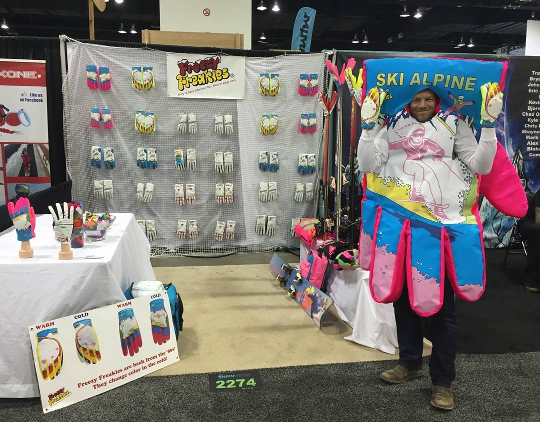We may not have the best-looking booth, but we do have the best-looking gloves. And a giant human glove. If you're in Denver for #SIA16, pop by booth 2274.