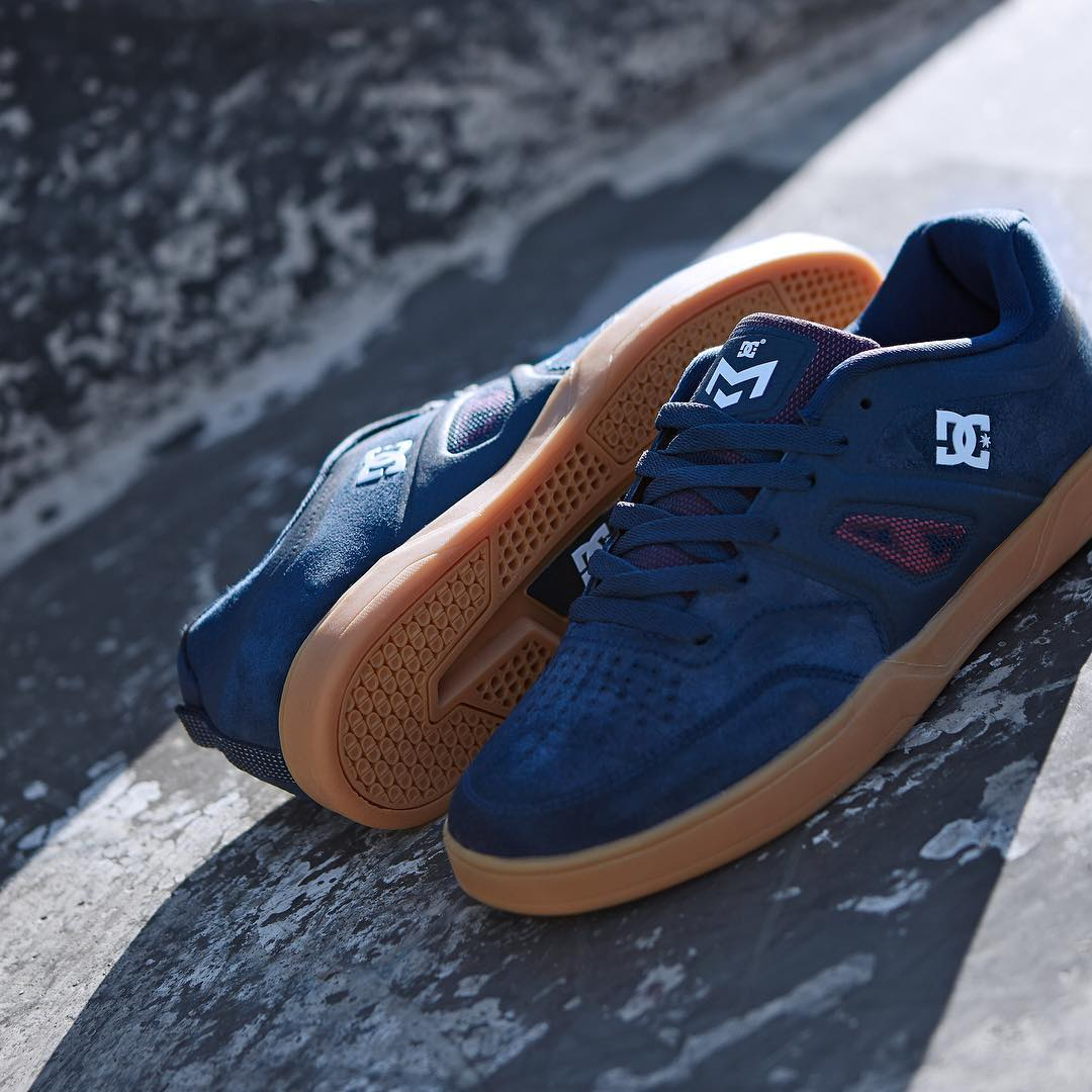 The @mattmillerskate signature shoe features cupsole protection with mesh windows for breathability. Get it now in Navy/Gum at your local shop and dcshoes.com #dcshoes