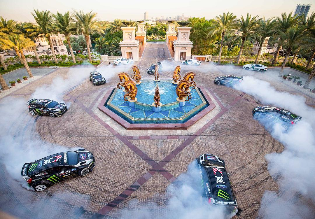 Funny story time: this donut from #GymkhanaEIGHT was done at the hotel I stayed at during filming (Al Qasr hotel). Every morning, I'd walk through the front lobby in my race suit and get some really weird looks, until we filmed this scene. Definitely...