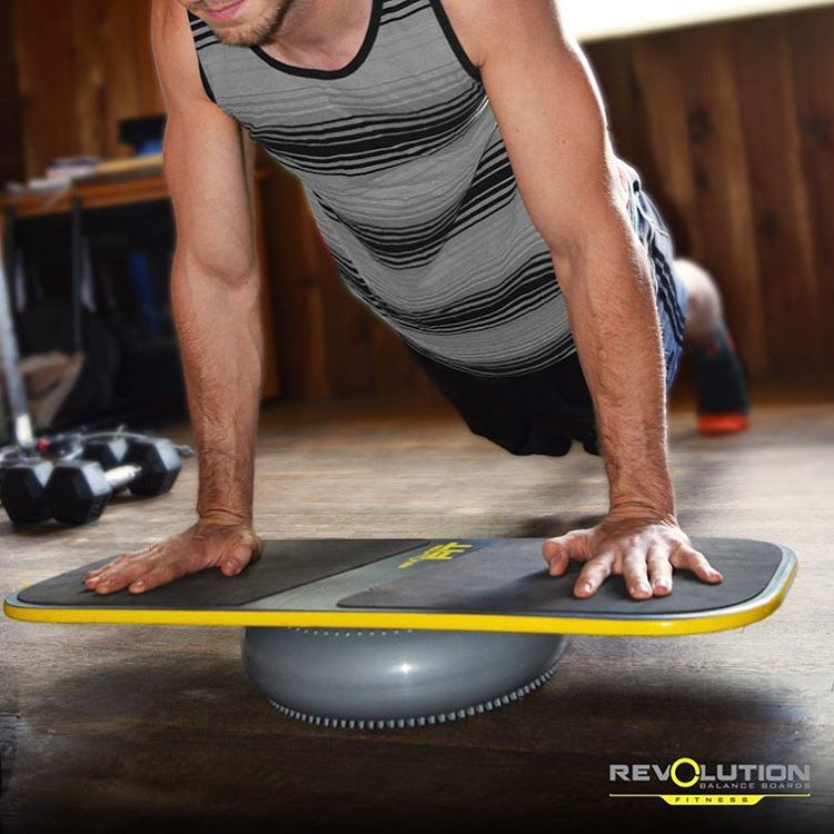 Looking for more ways to use your balance board? Follow @revbalance_fitness
