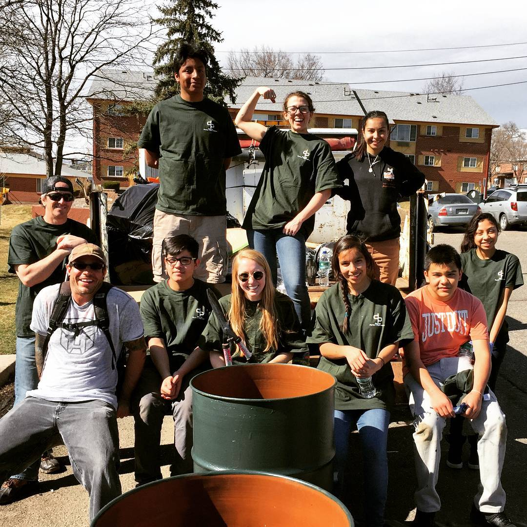Thanks to our Youth, who helped @denverparksrec by cleaning up Paco Sanchez Park last #weekend ! These #volunteers picked up trash, repainted bleachers and trashcans, while #smiling the whole time.