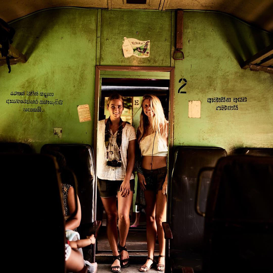 Camera, trains and epic travel buddies #justpassingthrough Sri Lanka @reef_girls next stop Hikkaduwa. Photo by @chris_delorenzo  #reefadventureseeker