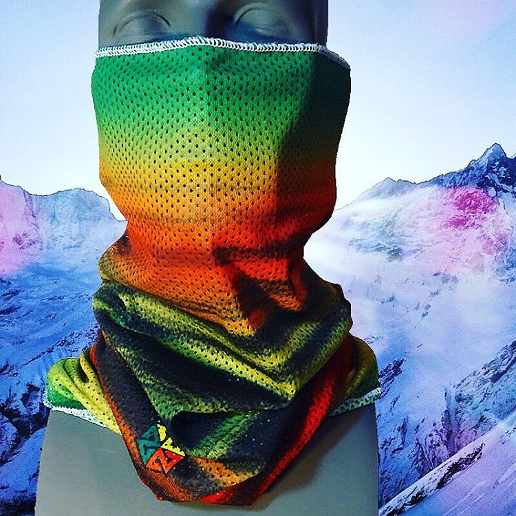 Our super breathable Rasta Mesh Faceshields are back in stock!  Great for keeping the sun and snow off your face on those epic spring park laps or on a surprise pow day! Pick one up at www.avalon7.co #avalon7 #liveactivated #snowboarding #faceshield