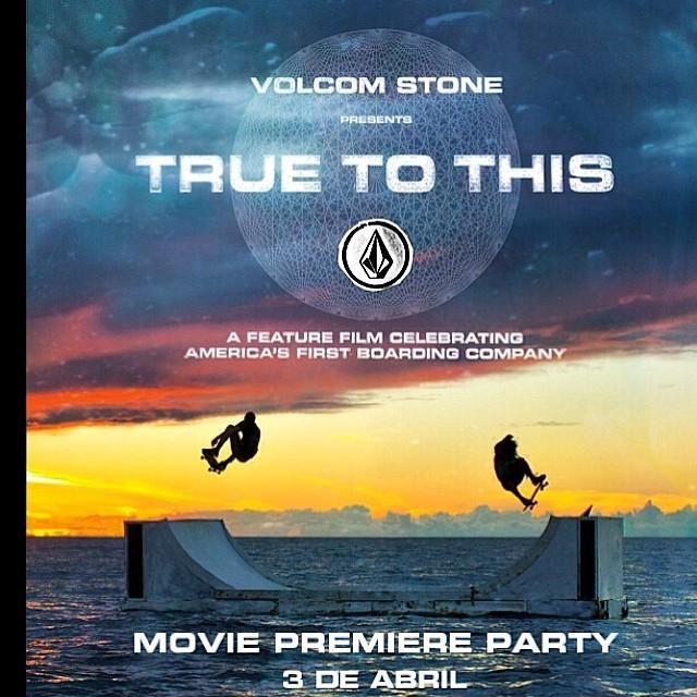 Movie Premiere Party! TRUE TO THIS la película celebrando la primera compañía americana de surf, skate, snow. @volcom @volcomsnow @volcomskate #TruetoThis #volcomArgentina #premiere