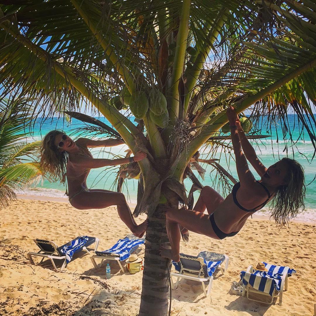 Monkeying around for @kendallbev 30th Birthday! HBD! #Tulum #Mexico #girlstrip #wanderlust #adventureoften