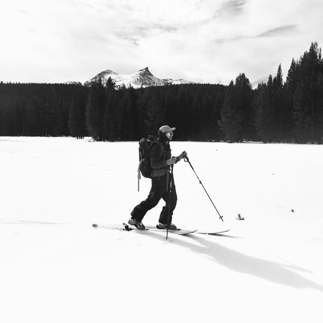A ski tour through Tuolumne Meadows.