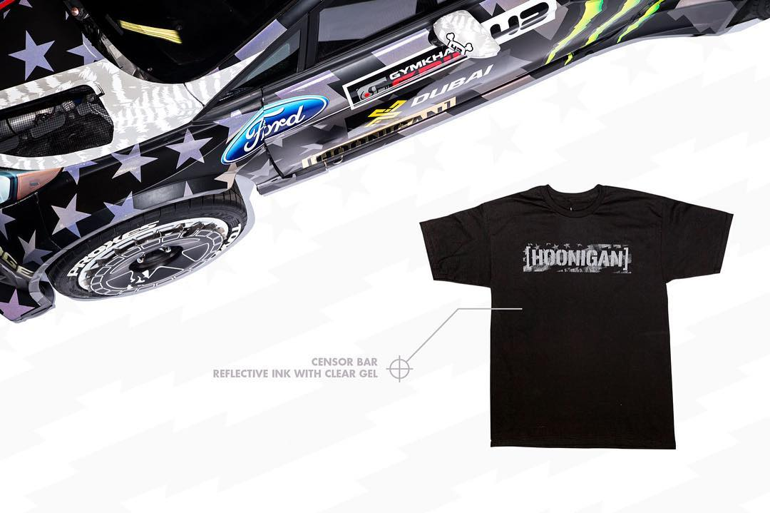 Our entire line of #GymkhanaEIGHT apparel boasts the same ultra reflective features as @kblock43's Fiesta RX43. Find it on #hooniganDOTcom.