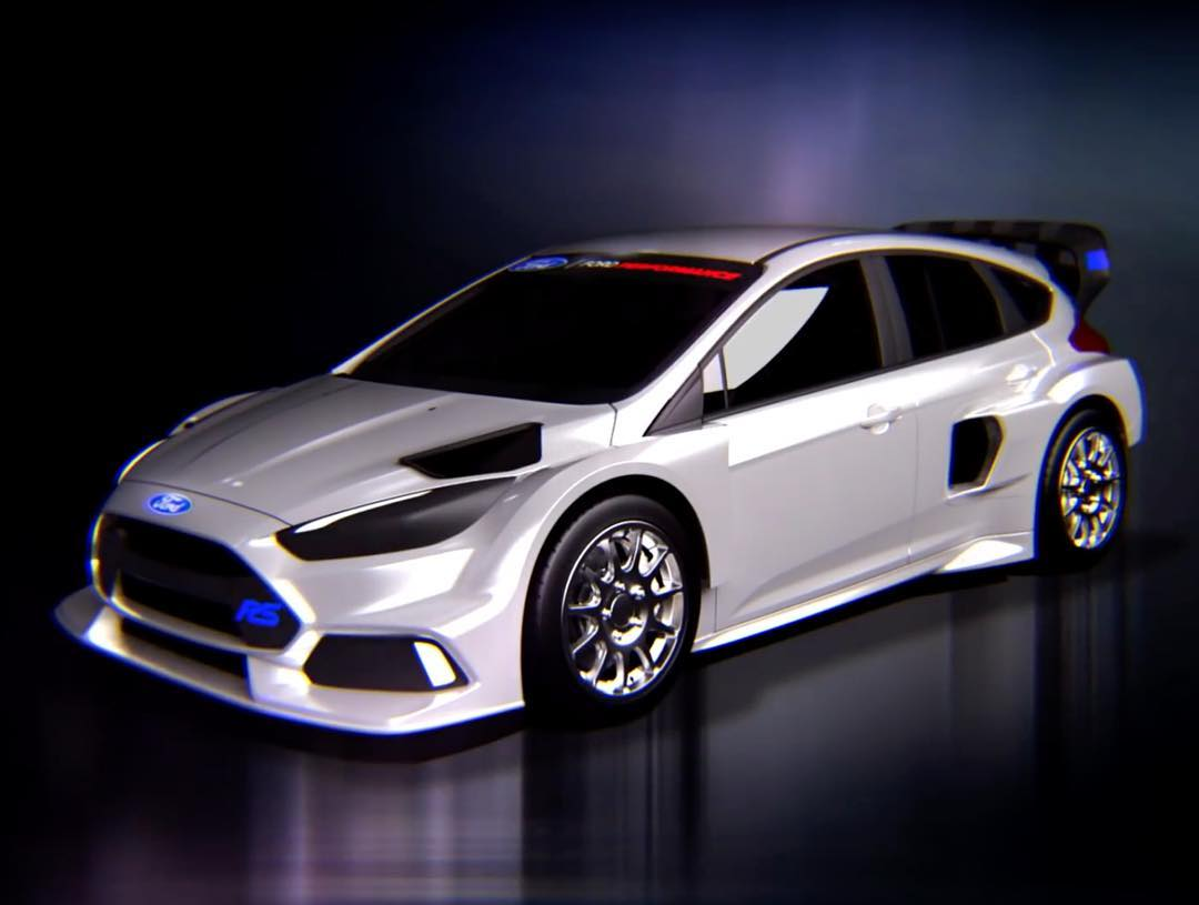 Introducing: my all-new 2016 rallycross machine, the Ford Focus RS RX!! Those of you who stuck around 'till the very end of Gymkhana EIGHT caught a glimpse of this beauty, built as a global collaboration between @M-Sport and @Ford Performance. SO...
