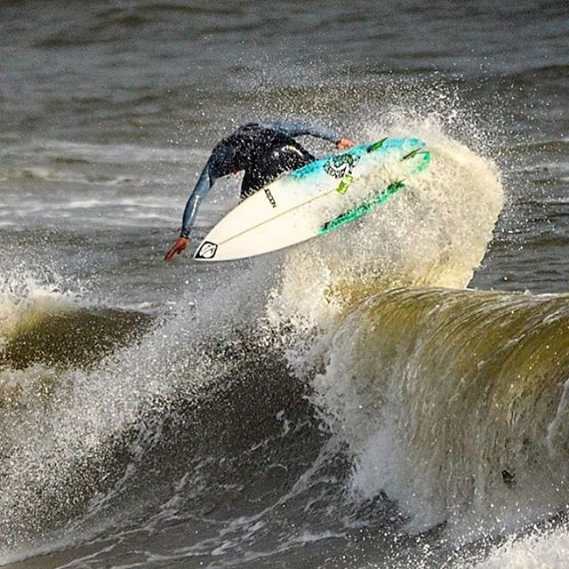 @kbusey7 backside blast in Folly Beach.