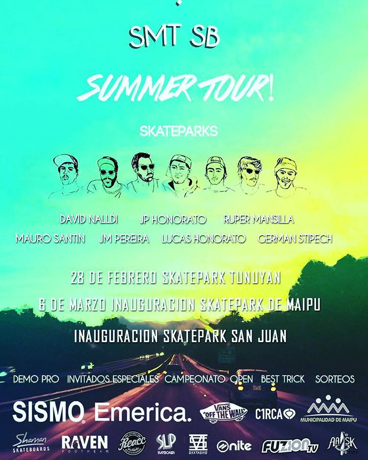 Atención Mendoza ! Allí estaremos, con @sebafrancoskate. Gracias @smt_sb x generar difusión x skaters para todos.  #tour #skateparks #slp #slpskateboards #skateboarding #mendoza