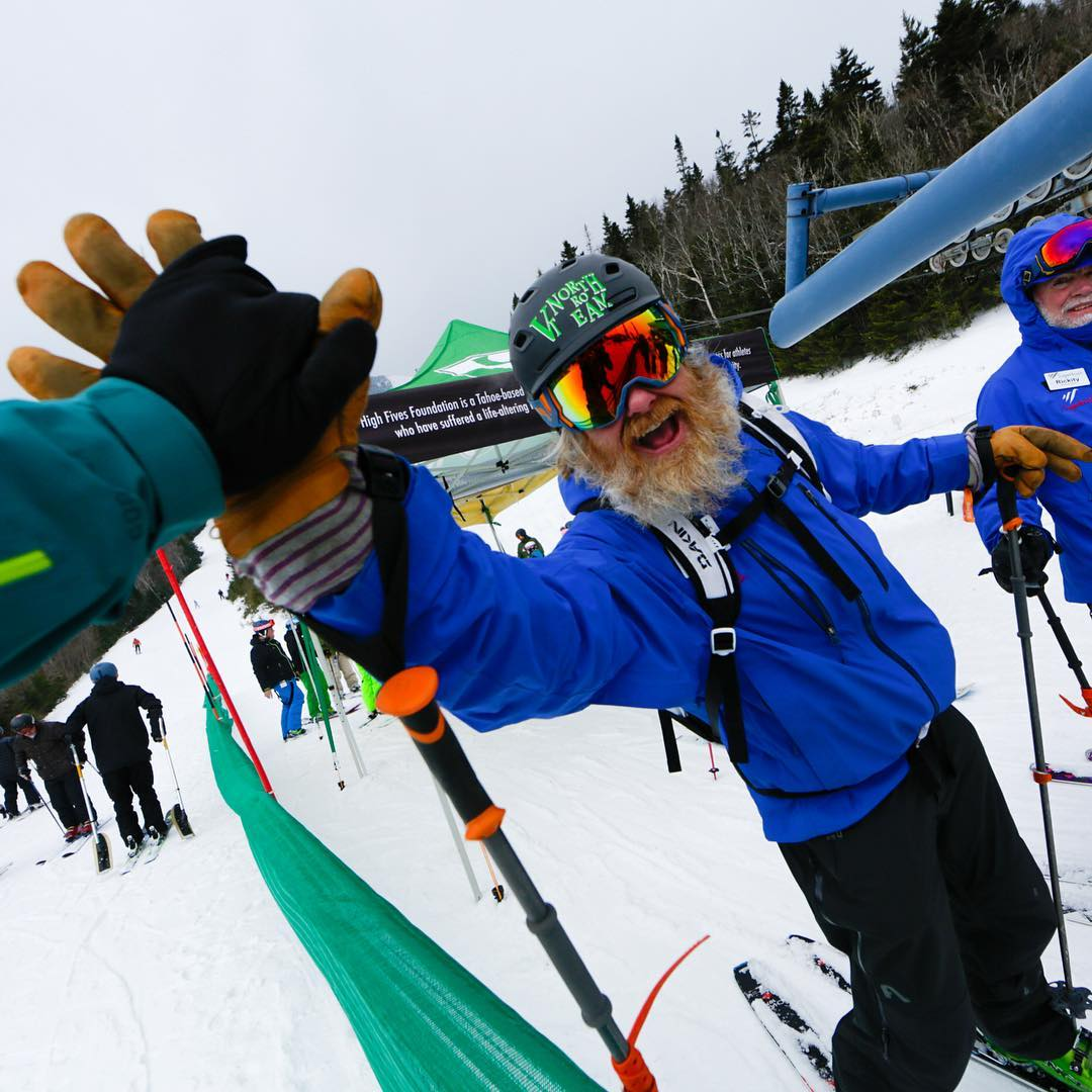This year's #FatSkiAThon was the most successful fundraiser in the foundation's history, raising $150,000. High Five!!