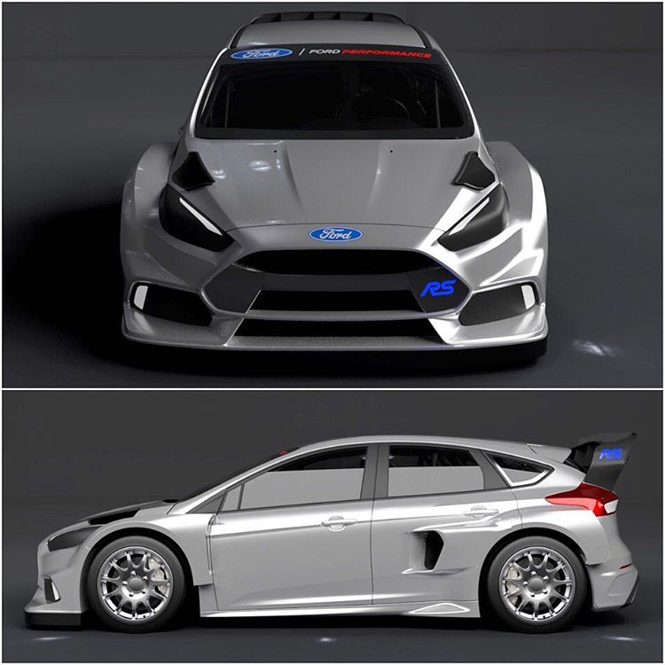 A few more angles of my all-new 2016 Ford Focus RS RX, aka the car I'll be using to take on the 2016 @FIAWorldRX Championship along with my teammate @AndreasBakkerud. AND it'll be used in Gymkhana NINE, coming later this year! #bigtings #GymkhanaEIGHT...