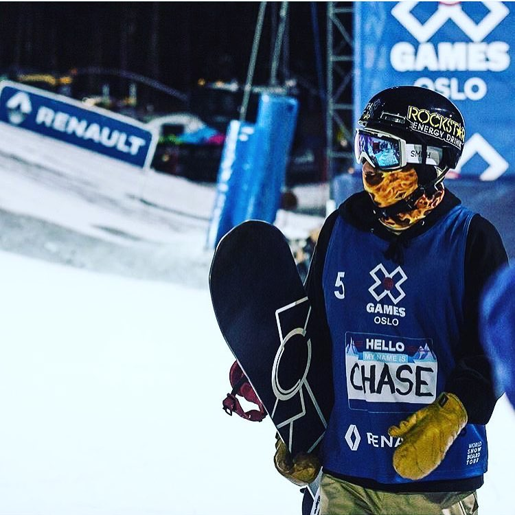 Hello my name is Chase. #doublebacon #A7Renegade @chasejosey rocking the new Fuego Faceshield while winning a Bronze medal at XGames Oslo this past week. The kid's on fire!