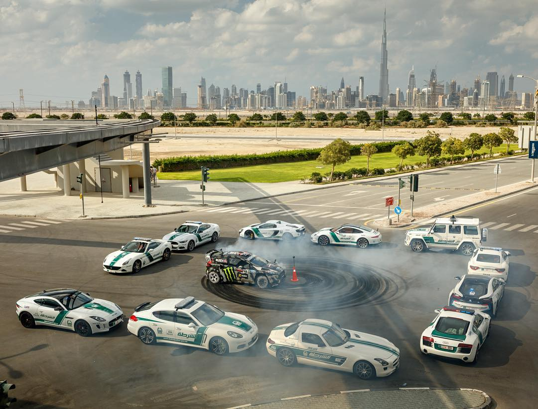World's most expensive donut box! Ha, only in Dubai. I love this part of #GymkhanaEIGHT. That's $2 million dollars' worth of high-end barriers. I don't think I've ever been nervous about a donut box before this. But, since this was Dubai, we couldn't...
