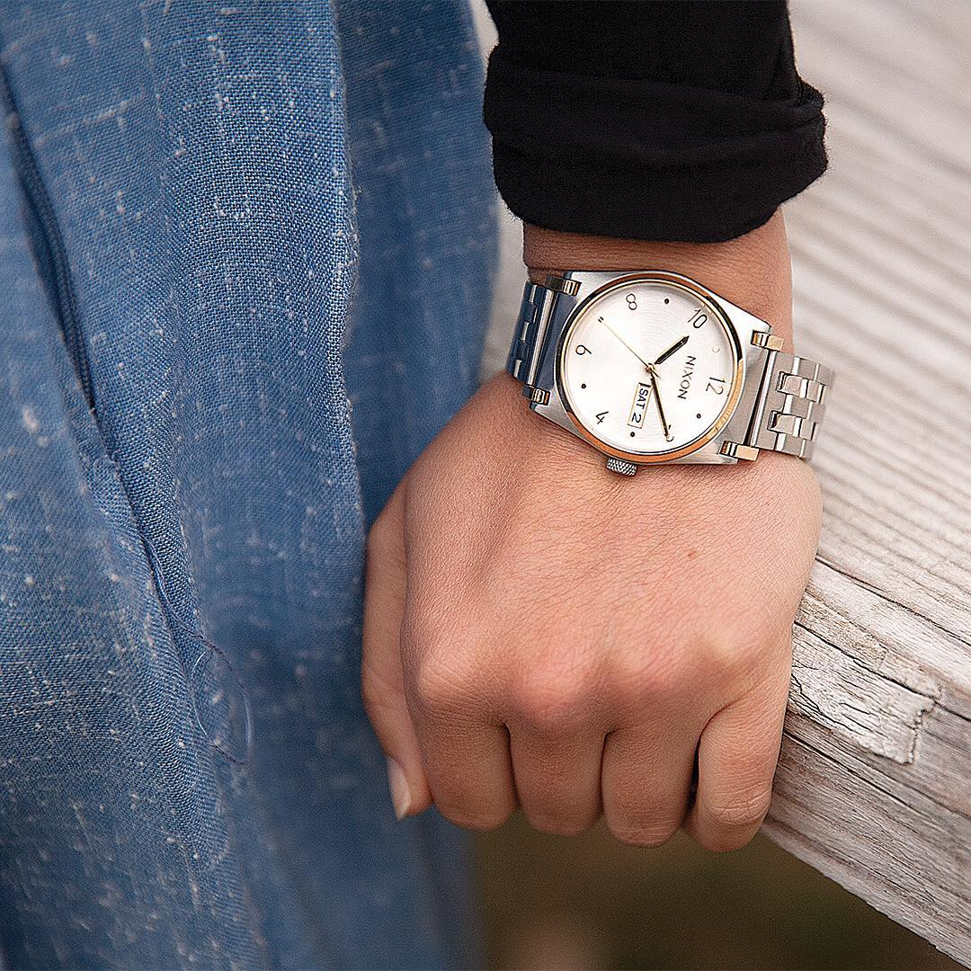 Perfected balance and beauty, @moristeele wears the #jane well.  #Nixon #WasteNoTime