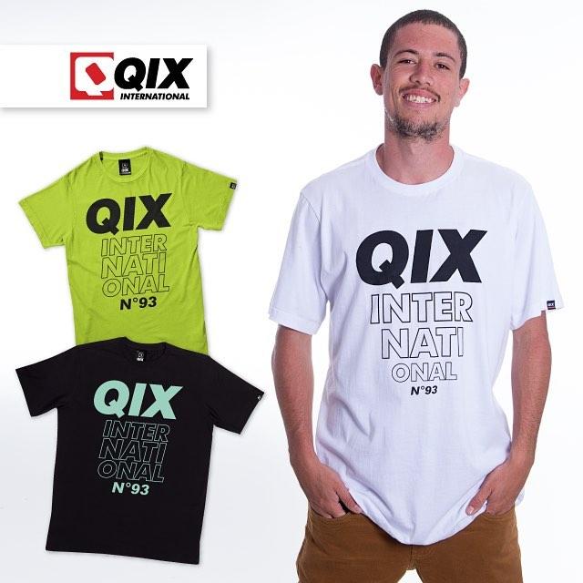 Camiseta QIX Basic. Disponível nas lojas de todo o Brasil e na www.qixskateshop.com.br