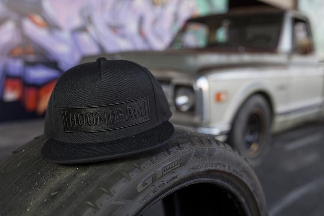 Shredded tires and Snapbacks. Our kind of stuff.  The black on black C-bar, just one of the many on #hooniganDOTcom and available at your local @lids4hats.