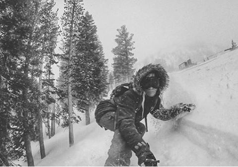 PHGB athlete, @erikathevikingvikander surfing some powder in Mammoth!!