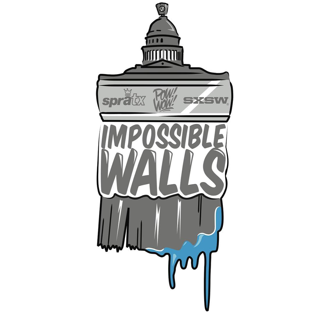 "One more week!! We will be kicking of the ""Impossible Walls"" project with @powwowworldwide & @sxsw • • The artist line up and mural locations will be released soon! • • We are holding artist meet and greets along with a few other events that will be..."