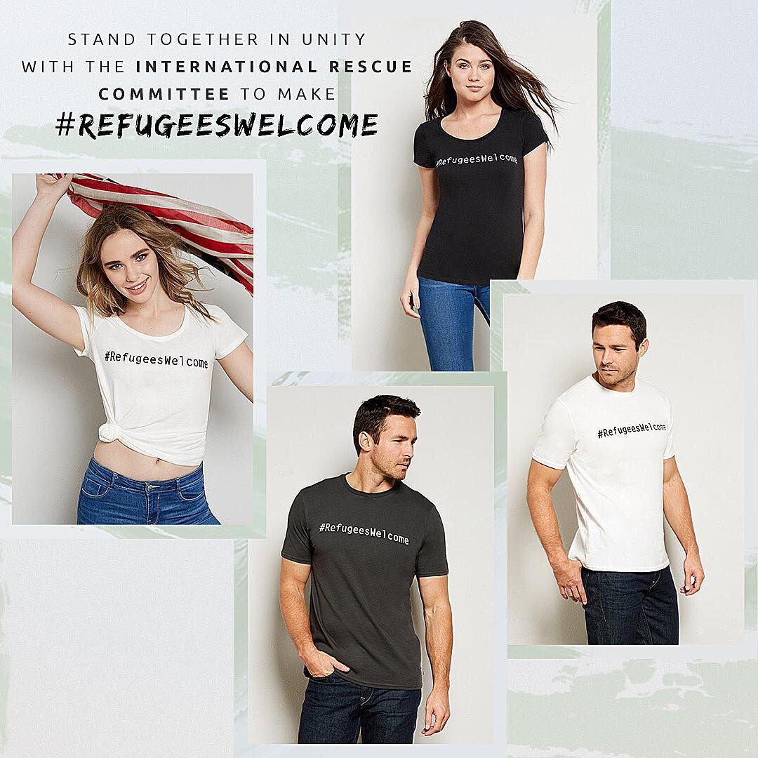 Let the shirt do the talking. Stand with us and @theirc in saying #refugeeswelcome. T-shirts available on www.threadsforthought.com, 100% of the profits from the tees will go directly to the IRC. #IRC #standtogether #makeadifference