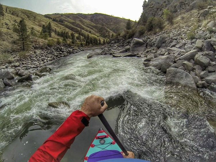 @buckleycoldnwet paddling the Main Fork of the Payette in Idaho. #halagear #whitewaterdesigned #adventuredesigned #isup #inflatable #standuppaddle #paddleboarding #payetteriver #sup #whitewatersup #idaho #rivers #explore #gopro #outdoors