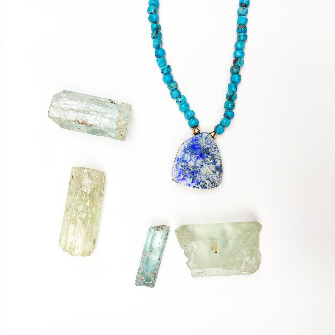 Aquamarine being the Gemstone of the month is right in line with Springs color palette. With the rain in my area and all the birds waking up earlier it's like the beautiful dew that begins to awaken the trees and shed new life onto the sleeping...
