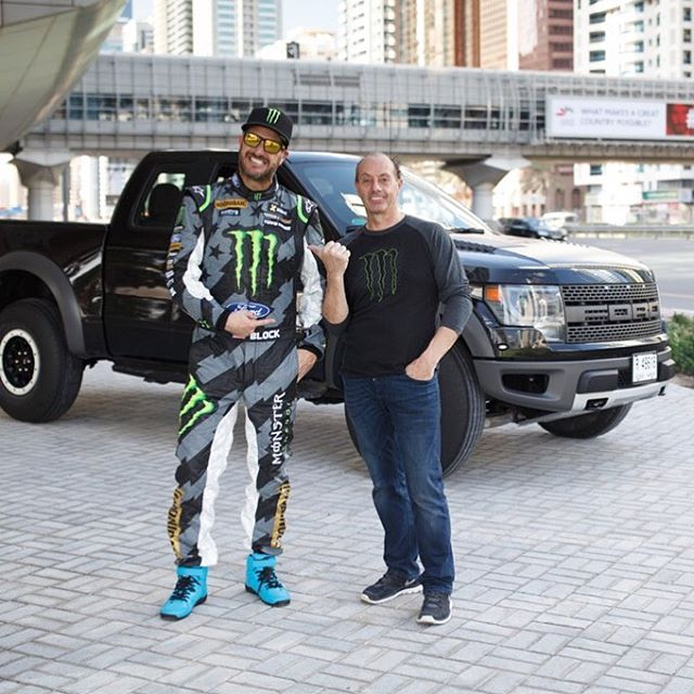 Remember that sketchy driving sequence of me sliding my Ford Fiesta around a Raptor in #GymkhanaEIGHT? That Raptor was driven by my friend, stunt driver @TerryGrant1. We have wanted to work with Terry for many years, and GYM8 was the perfect setting...