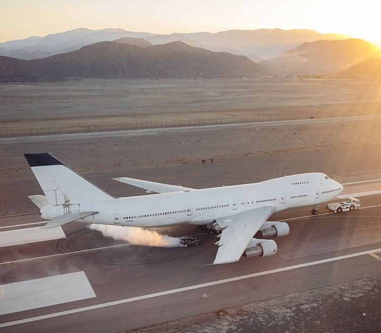 It's pretty insane to me that we got access to a double-decker jumbo jet for #GymkhanaEIGHT. This was all done on an active runway, too. We had to shoot this between a few Ilyushin Il-76 planes coming in for landings. Oh, and another GYM8 fun fact:...
