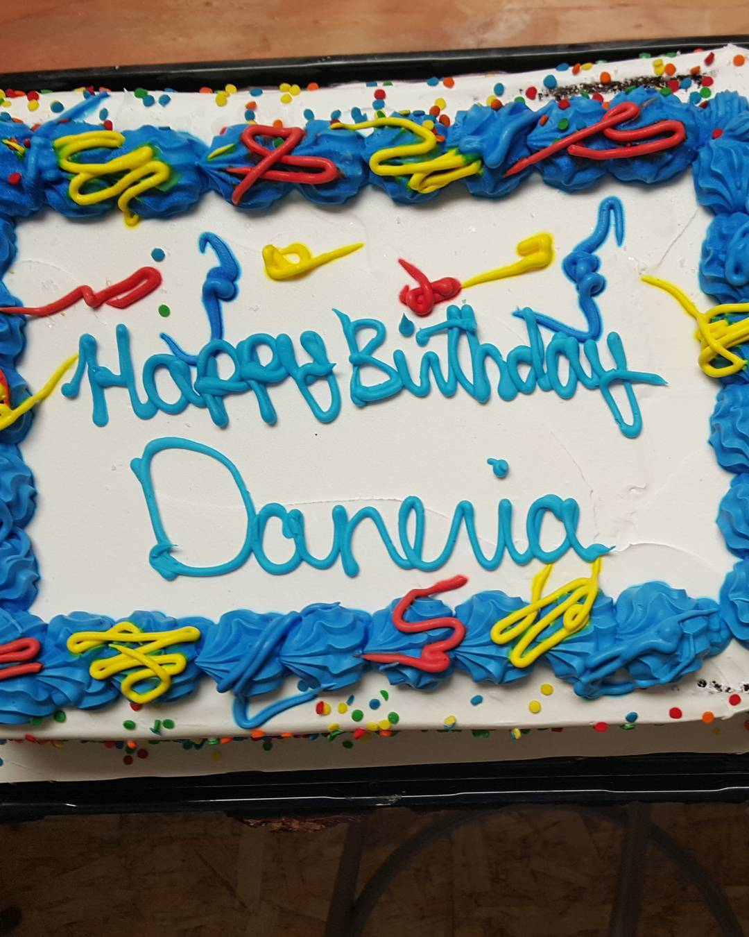 Happy Birthday to @danewebber and our accountant Maria! We combined Dane and Marias name to save space and money on this custom cake from Gordon Ramsey himself.  Happy Birthday Daneria!  #Daneria #HappyBirthday #LoadedBoards