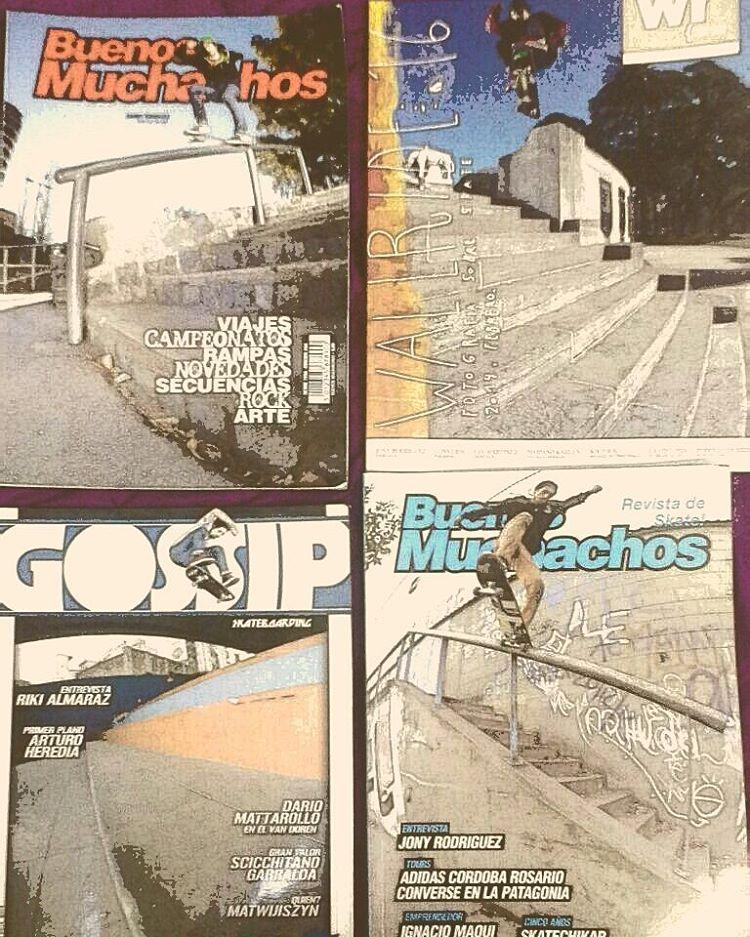@jonyrodriguezskt nos comparte sus recientes tapas de un repulgue muy particular. Tenés alguna en tu colección ... ?! #revistas #tapas #cover #skateboardmags #slp #slpskateboards #skateboarding #buenosmuchachos #gossip #wallride