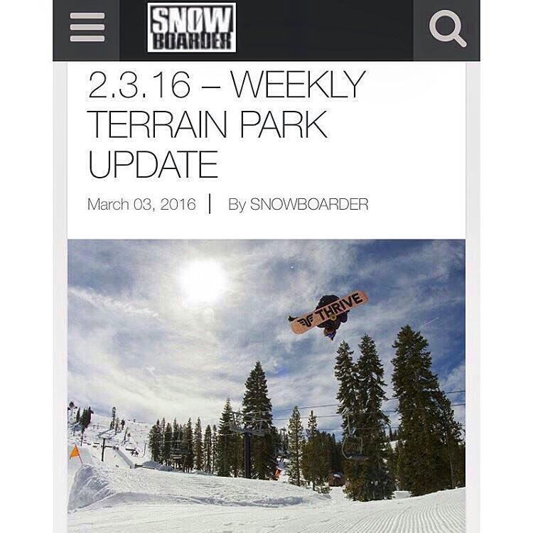 @snowboardermag @moofosta #thrivesnowboards #snowboard @borealmtn #terrainpark