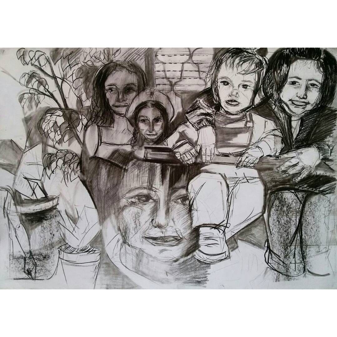 Hermanos todos los días, toda la vida.#diadelhermano #hermanos #sis #bro #lovethem #love #family #blackandwhite #arte #art #dibujo #drawing #instaart
