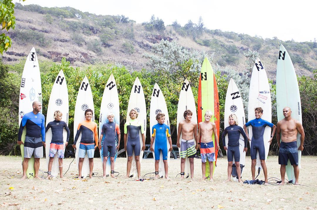 "The U15 #Billabongbloodlines camp was given quite the experience yesterday, getting to surf Waimea Bay alongside big wave master @shanedorian. As Shane said, ""They all killed it."""