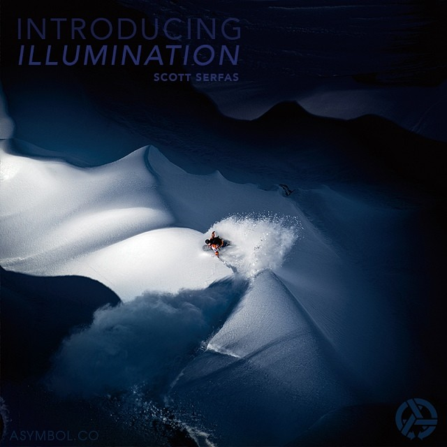 "Just launched at asymbol.co - Illumination by @scottserfas. @travisrice shot during the filming of 'The Art of FLIGHT.' Winner of the @redbull Illume ""Illumination"" category. Cover photo of the book ""The Ride of Superman."" Now available as a limited..."