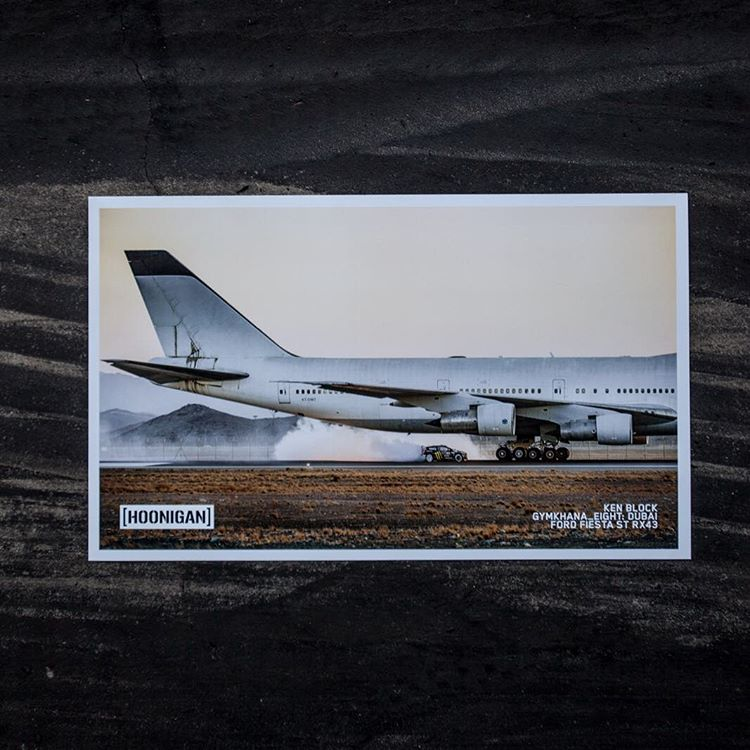 LICENSE TO HOON: Our favorite and likely the most iconic moment in #GymkhanaEIGHT, when @kblock43 uses a 747 as a moving obstacle, is now available on a high quality print. It's LIMITED EDITION so once they're gone, they're gone. ...