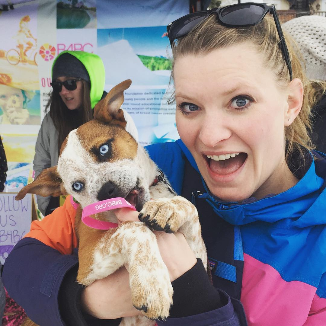 Puppies love Boarding for Breast Cancer too! Stop by the B4BC booth at the #BurtonUSOpen in Vail, CO this week to learn how to #checkonetwo for breast cancer! - #puppylove