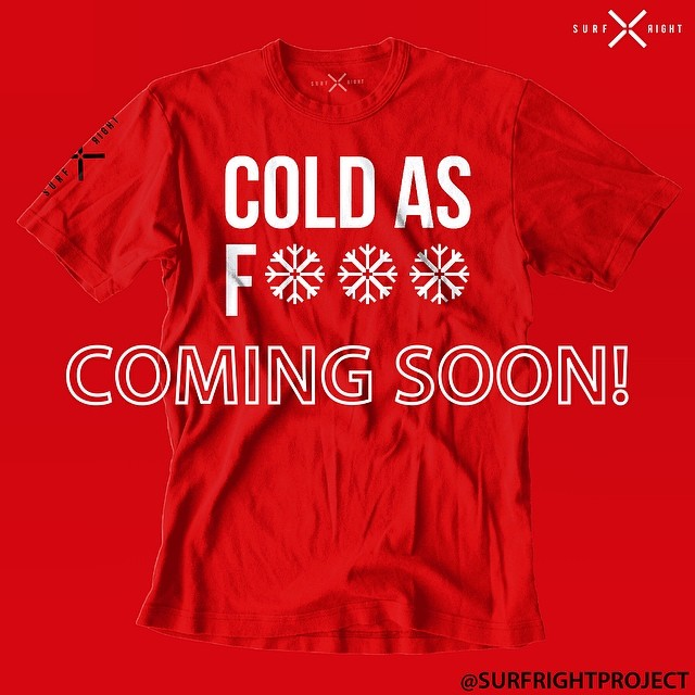 COLD WATER THREADS:  Yup. Deal with it. The waves are better then. And the crowds smaller. Back by popular demand!  #coldwaterthreads#coldwatersurf #surf #coldasf #northernwaters#freshwater #saltwater #salted #tee #comingsoon